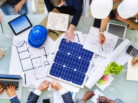 Solar Experts Planning Out Installation Strategy