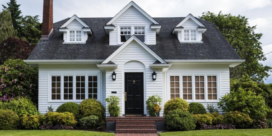 suburban home spring season