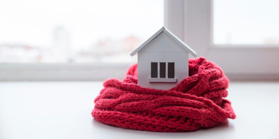 cozy home in a scarf